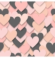 Colorful hearts seamless pattern vector image