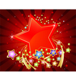 Colorful stars abstract background vector image vector image