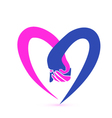 Couple holding hands logo
