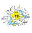 creative of creative idea with light bulb an vector image vector image