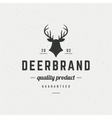 Deer head Design Element in Vintage Style for vector image