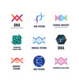 dna code biotech science genetics logo vector image vector image