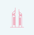 Emirates Towers vector image vector image