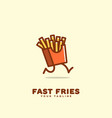 fast fries logo vector image vector image
