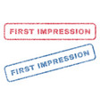 first impression textile stamps vector image vector image