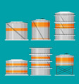 flat oil tank icon set vector image vector image