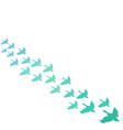 flying birds background vector image vector image