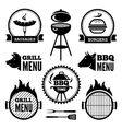 grill and bbq vector image vector image