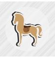 horsemanship icon design vector image vector image