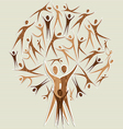 Human family tree vector image vector image