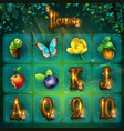 images for shadowy forest gui vector image