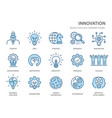 innovation flat line icons vector image