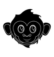 Isolated monkey cartoon face design vector image