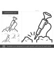 jackhammer line icon vector image vector image