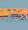 landscape with sunrise vector image