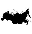 map of russia outline the vector image