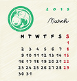 march 2015 zodiac vector image vector image