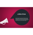 Megaphone with bubble speech vector image