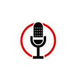microphone icon design logo vector image