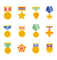 military medals icon vector image vector image