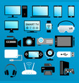 modern digital devices color icons isolated set vector image