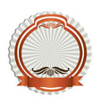 orange emblem with ribbon decoration icon vector image vector image