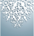 overlapping snowflakes vector image