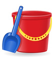 plastic bucket and shovel 01 vector image vector image