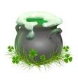 Pot of Irish beer Irish ale brewed in the vector image vector image