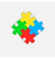 Puzzle parts vector image vector image