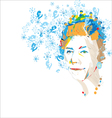 queen greetings vector image vector image