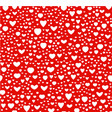 red and white color seamless hearts pattern vector image vector image