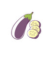 ripe eggplant isolated icon vector image vector image