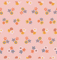 scandinavian ditsy flowers seamless vector image vector image