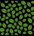 seamless pattern with green strawberry leaves vector image vector image