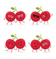 set cherry characters in different expressions vector image vector image