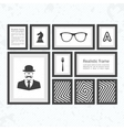 Set of black realistic frames vector image vector image