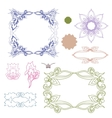 Set of colorful design elements Doodle hand drawn vector image