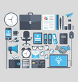 set of flat icons design concept vector image