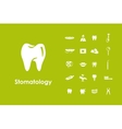 Set of stomatology simple icons vector image vector image