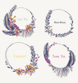 set of tropical wreaths exotic natural vector image vector image