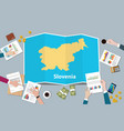 slovenia economy country growth nation team vector image vector image