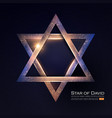 star of david jewish religion sign 3d element vector image