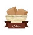 stevia natural sweetener inside bowl vector image vector image