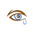 Stylized Eye With Tear vector image vector image