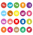 Supply chain and logistic flat icons on white vector image