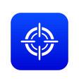 target icon digital blue vector image vector image