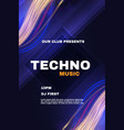 techno music fest poster template show vector image vector image