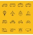 thin line icons of transport vector image vector image