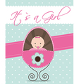 its a girl baby shower vector image